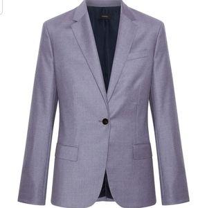 Theory 100% Virgin Wool Lavender Melange Blazer